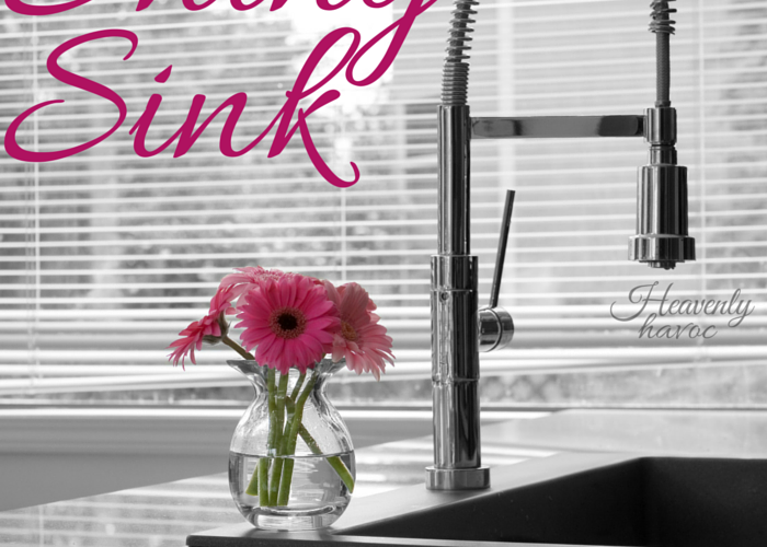 Sometimes the greatest lessons in life are learned through the simplest means possible! Shiny sinks and Motherhood?? Who knew?