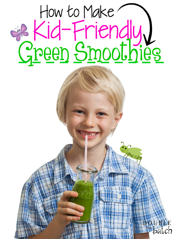 "Green smoothies are PACKED with nutrients. The big question is, ""How do we get that goodness into our kids? Try these recipes! My kids love em!"