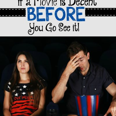 How to Know if a Movie is Decent BEFORE you go see it