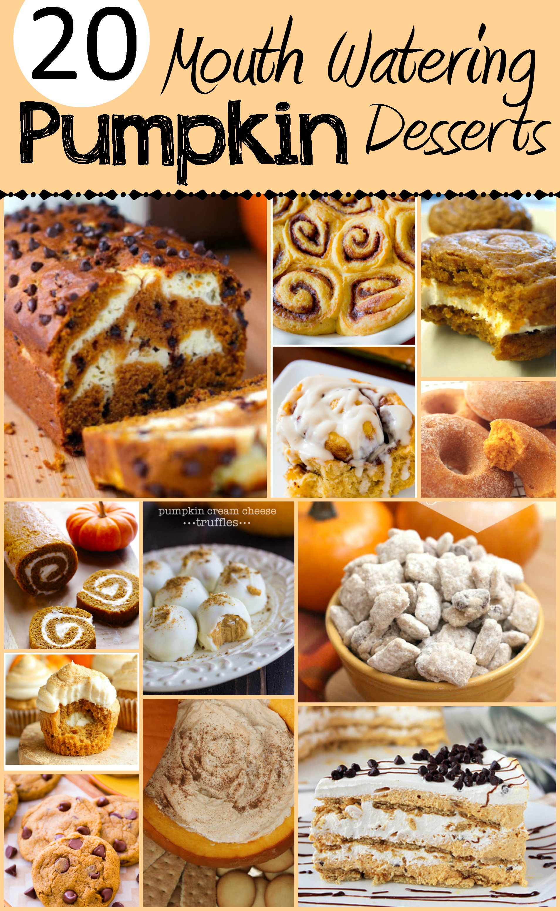 LOVE Pumpkin season! Pinning these pumpkin desserts for later!