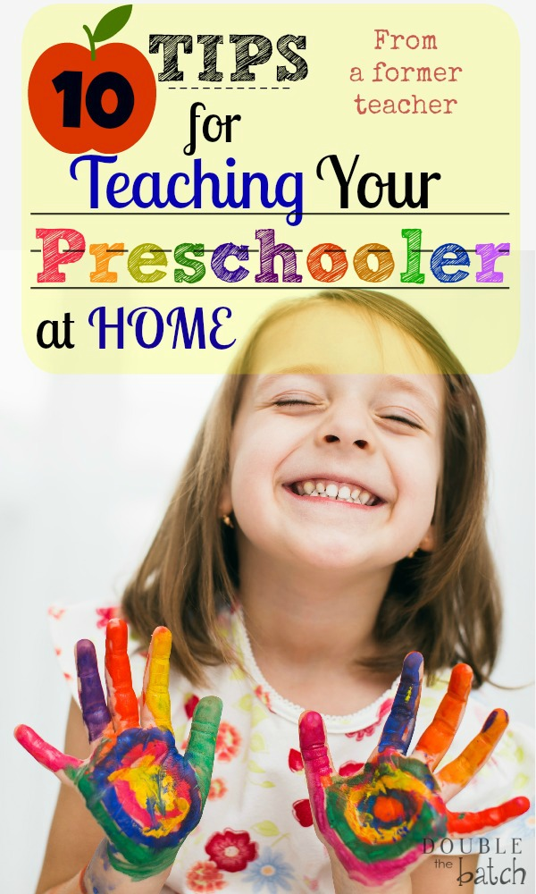Wanting to teach your preschooler at home or do a joy school from home? From a former preschool teacher of 9 years, here are great tips to confidently teach your child preschool at home.