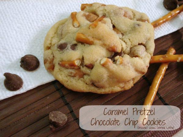 pretzel caramel cookies