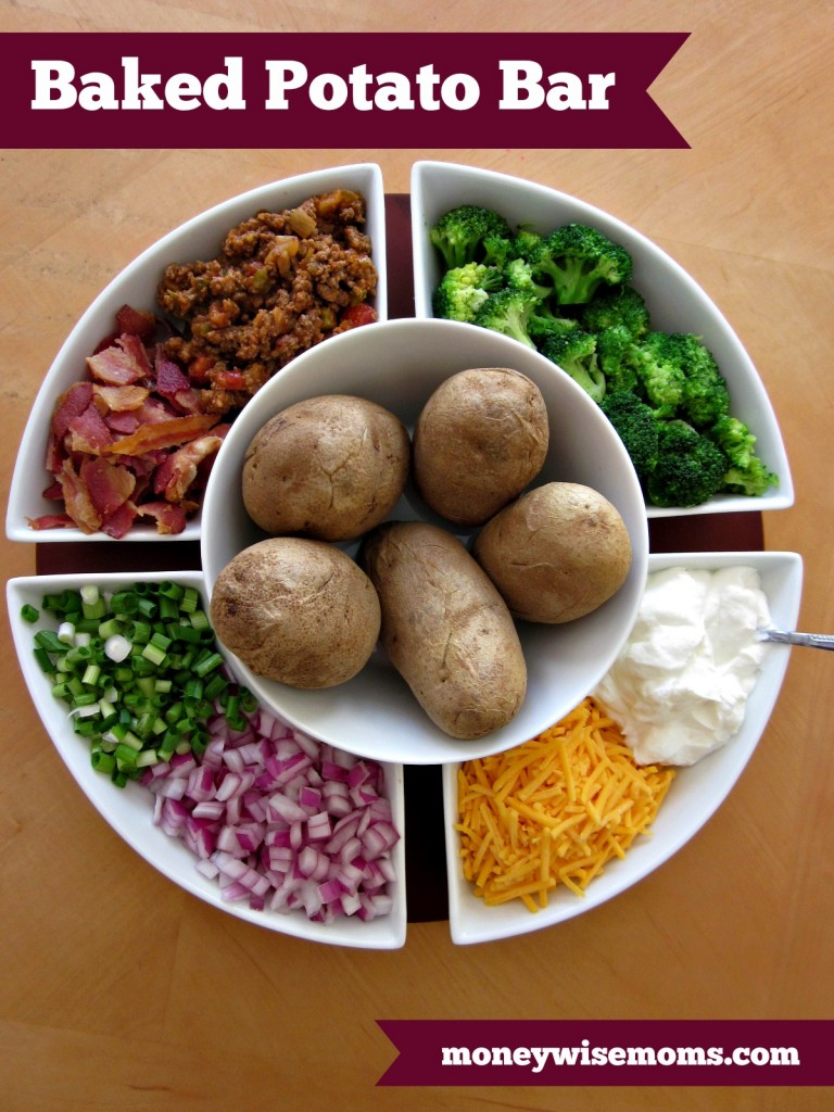 Baked Potato Bar by Money Wise Moms