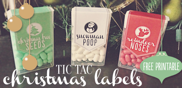 Tic Tac Christmas Labels by Somewhat Simple