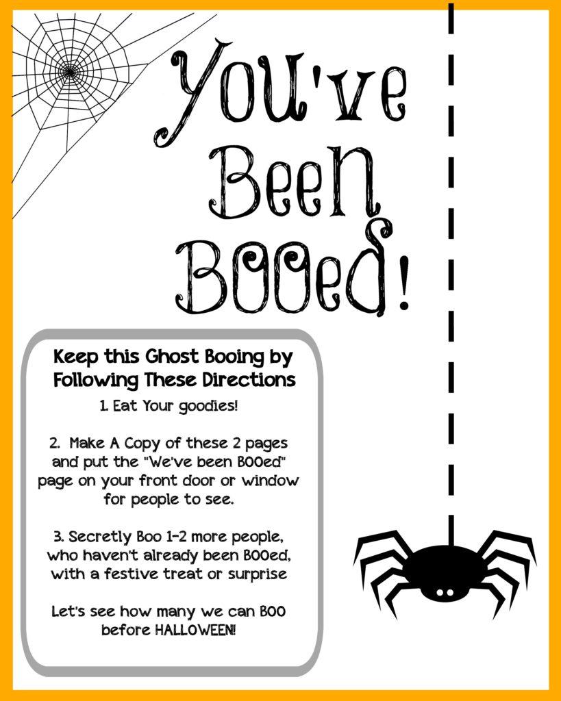 Boo Your Neighbors - Halloween Printables