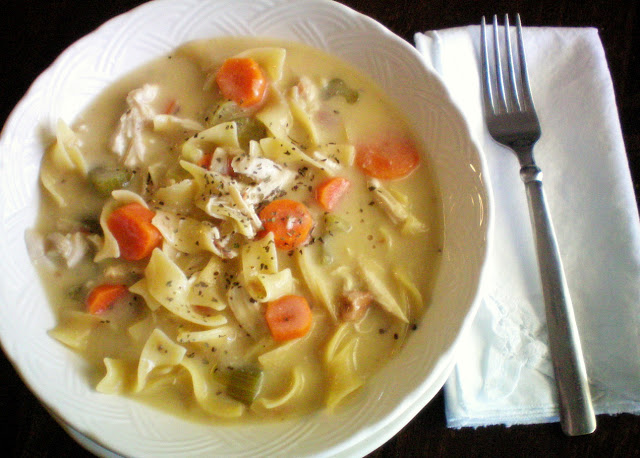Crock Pot Creamy Chicken NoodleSoup by Craft-o-Maniac