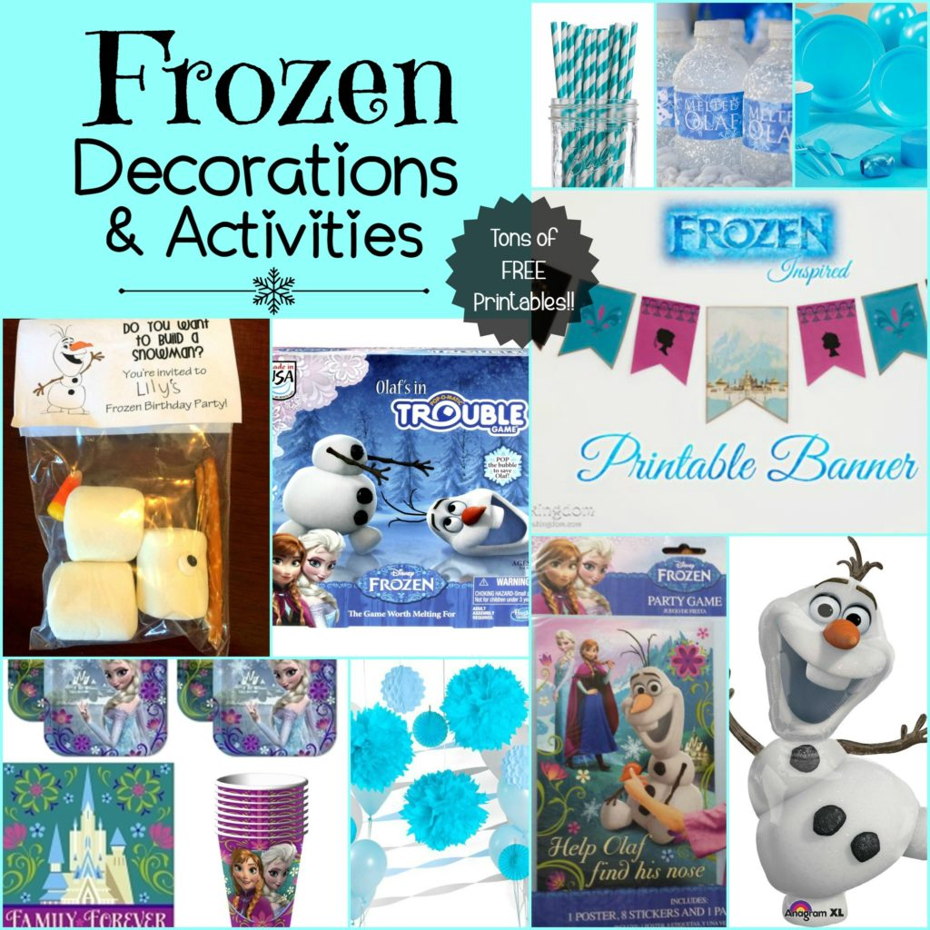 Frozen Themed Party Decorations