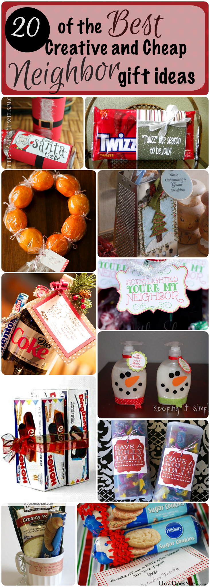 20 of the best creative and cheap neighbor gifts for christmas for Creative xmas gifts