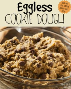 Now I can eat cookie dough guilt free with this aweomse Eggless Cookie Dough Recipe!