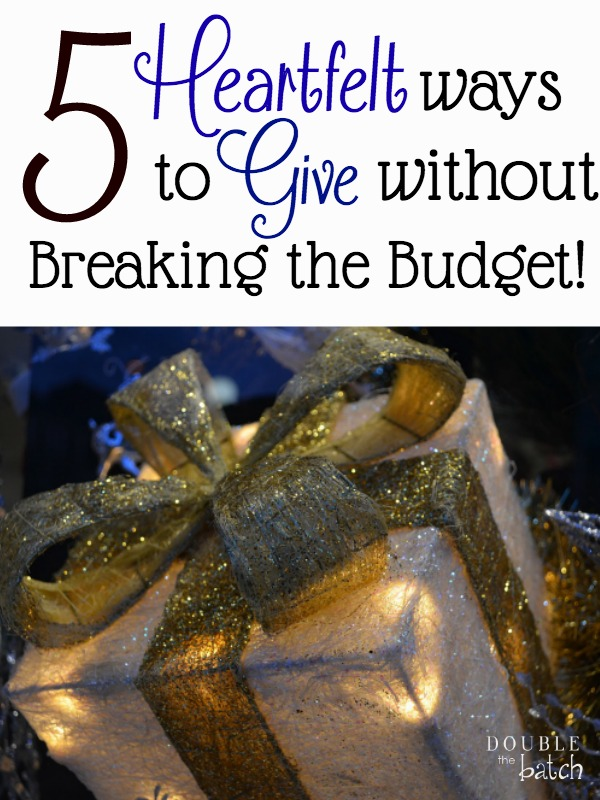 The thought of giving can be overwhelming when the budget is already stretched to the max. Here are 5 ways we have found to still give regardless of our income!
