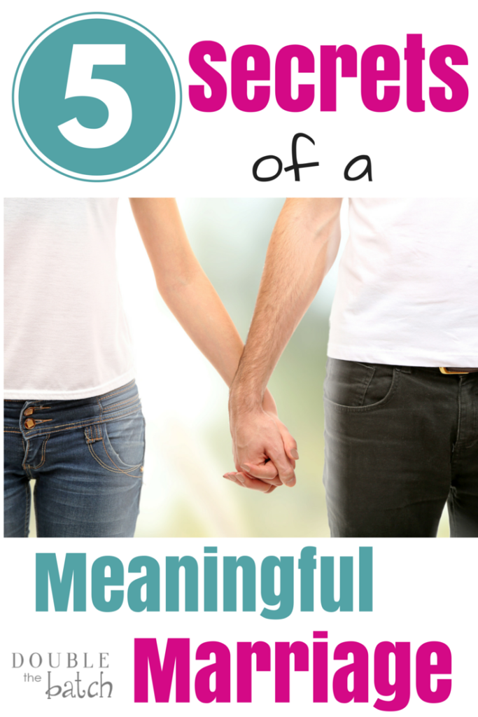 These 5 secrets will change your marriage into the meaningful relationship you've always wanted.