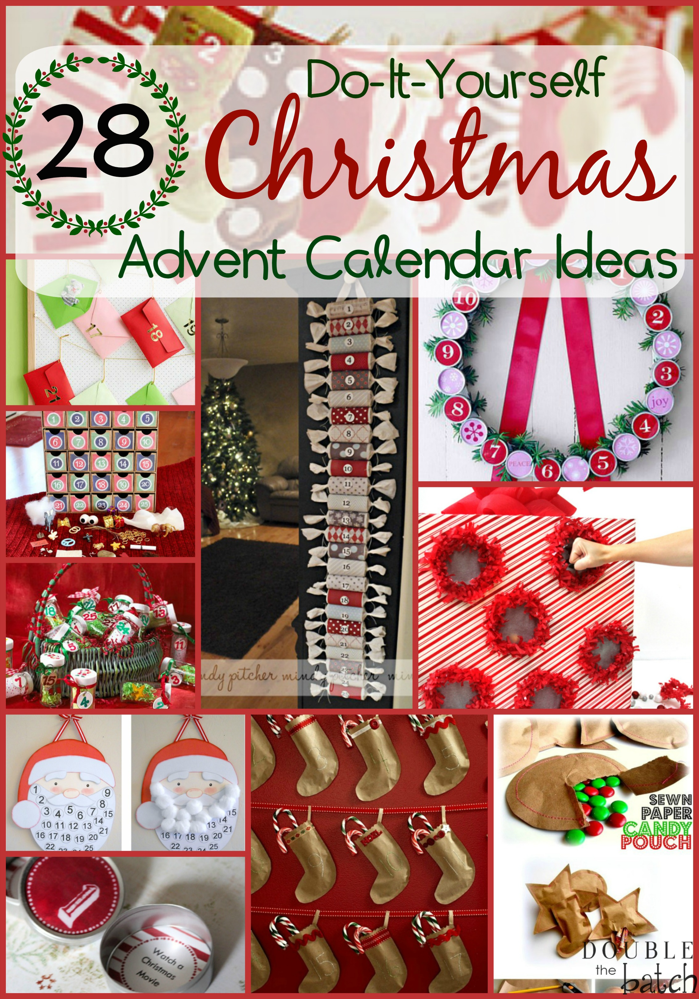 Christmas advent calendar ideas calendar template 2016 for Diy christmas advent calendar ideas