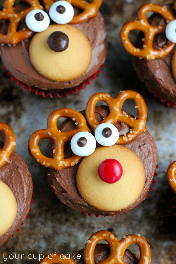 Reindeer Cupcakes by Your Cup Of Cake
