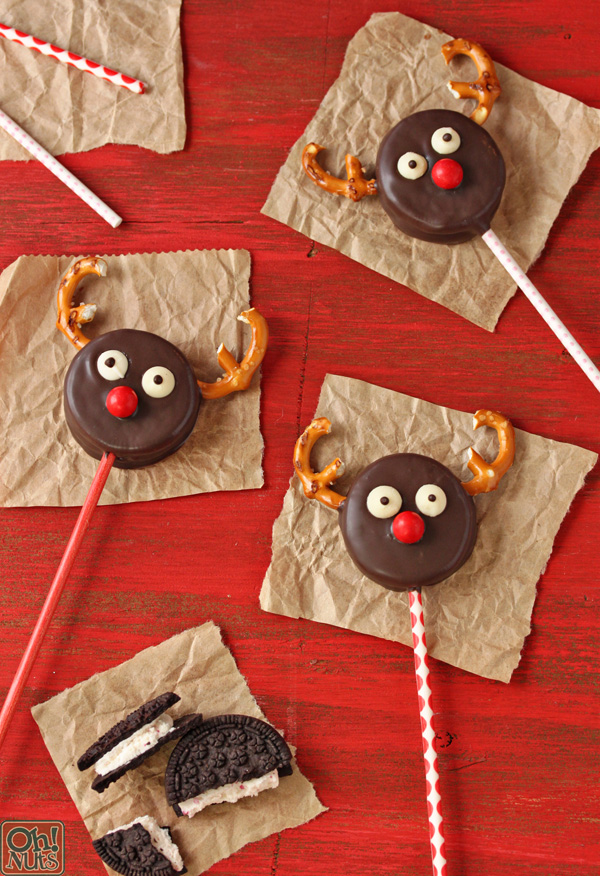 Oreo Reindeer Pops by Oh Nuts