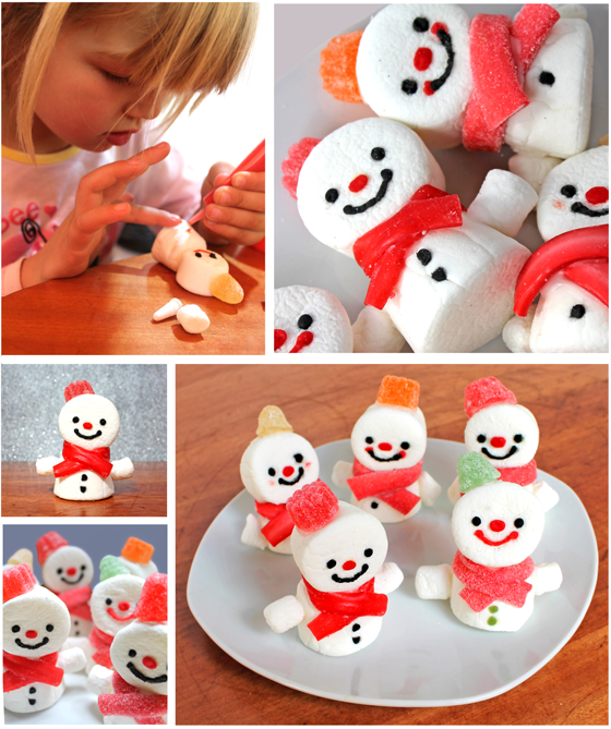 Snowman Marshmallows by Happy Thought