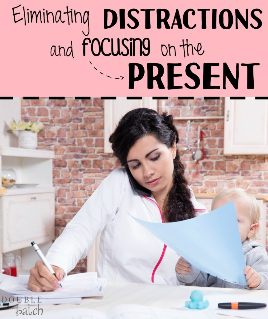 There are so many little things that clutter our attention every day. Its nice to eliminate those distractions every once in a while so we can focus on the whats going on in the present