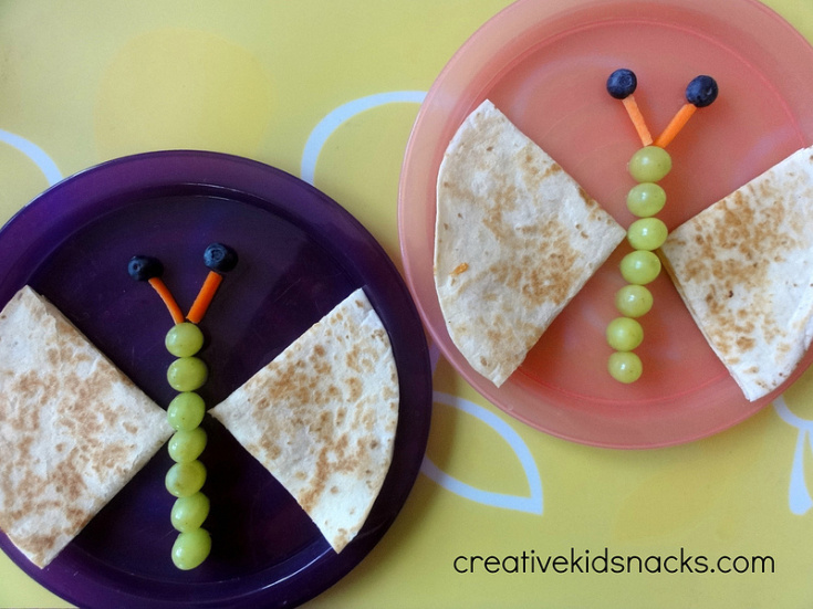 Butterfly Quesadillas by Creative Kid Snacks