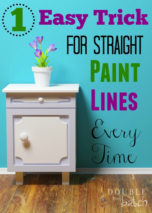 The easiest way to I've found to make your paint lines straight..