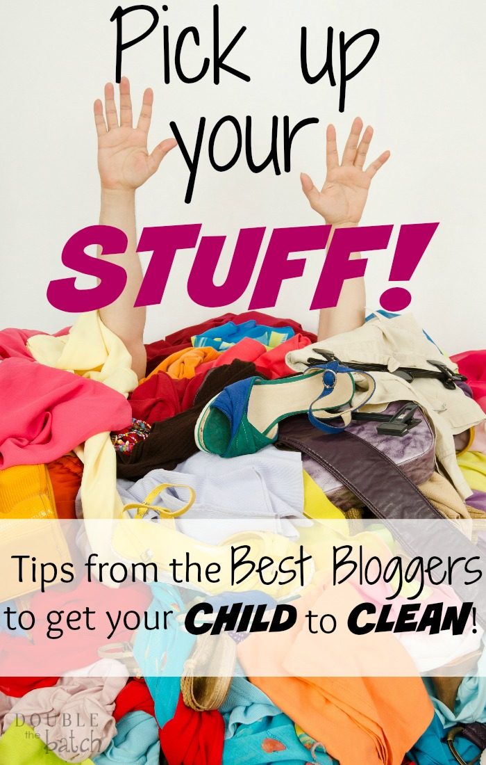 I can't tell you haw many times I've said that to my kids! This is a great round up of cleaning tips for kids! Love it!