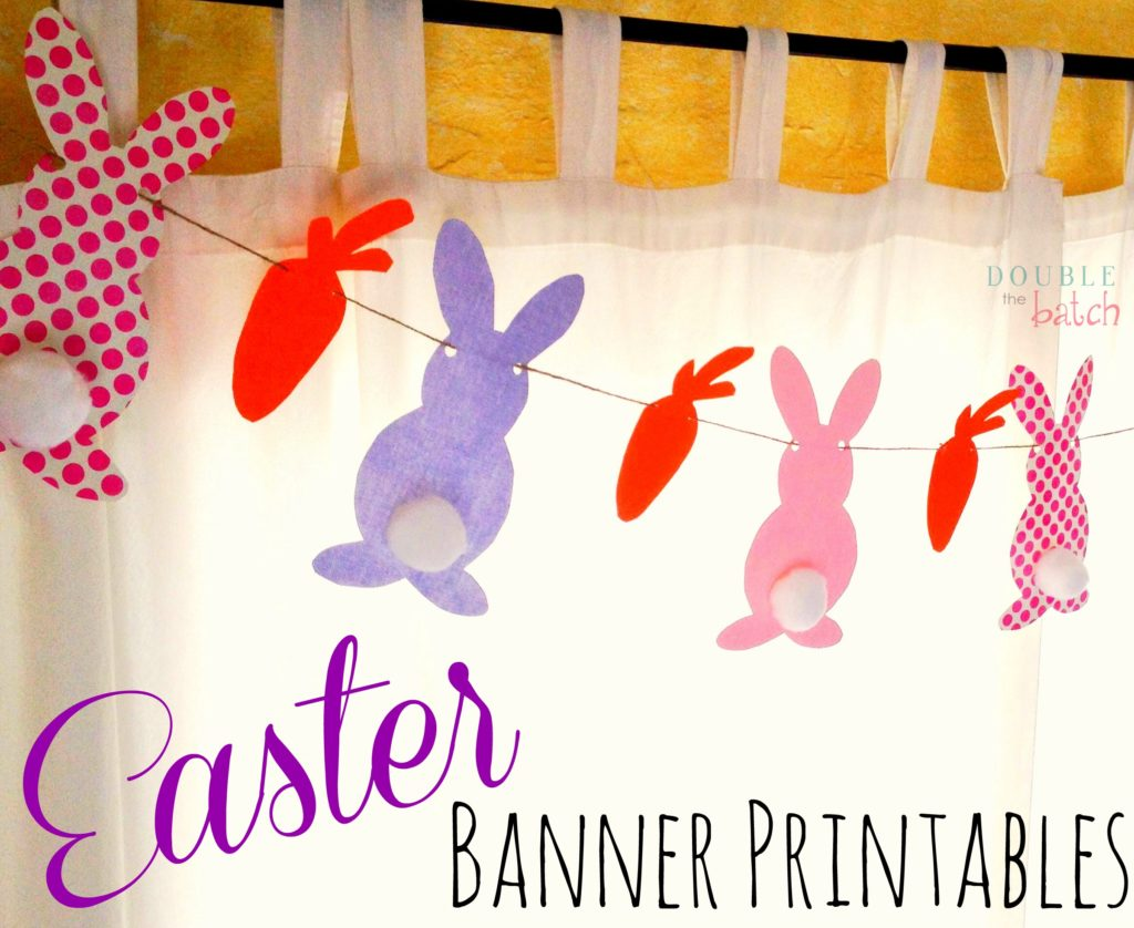image about Easter Banner Printable known as Easter Banner Printable - Uplifting Mayhem