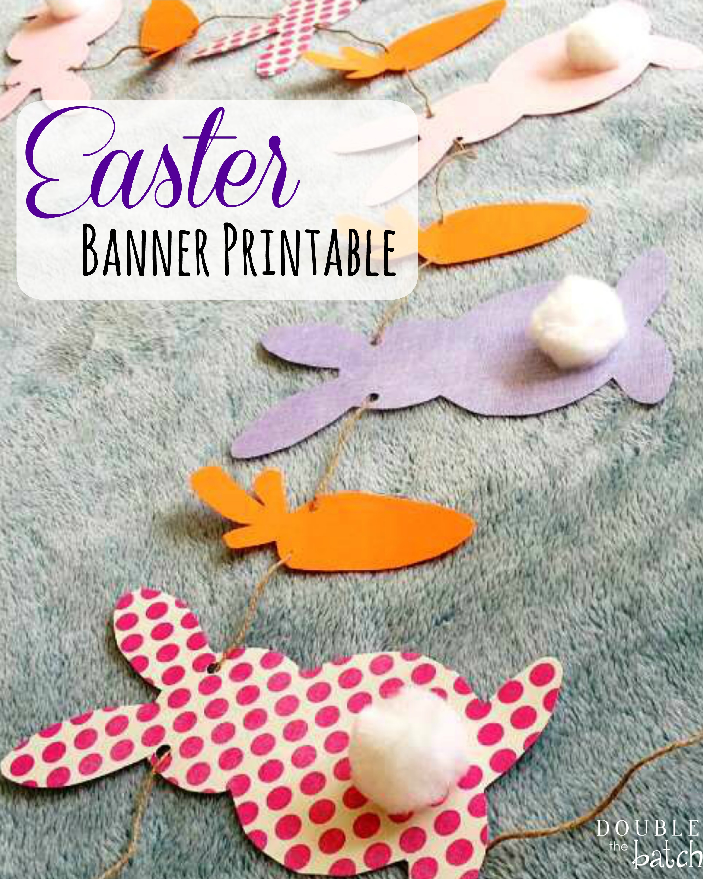 picture about Easter Banner Printable named Easter Banner Printable - Uplifting Mayhem