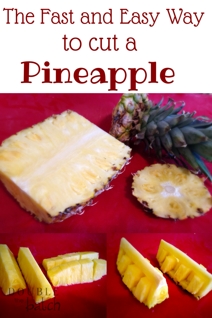 The fastest, easiest way to cut a pineapple. And a fancy way to serve it that will impress your guests!