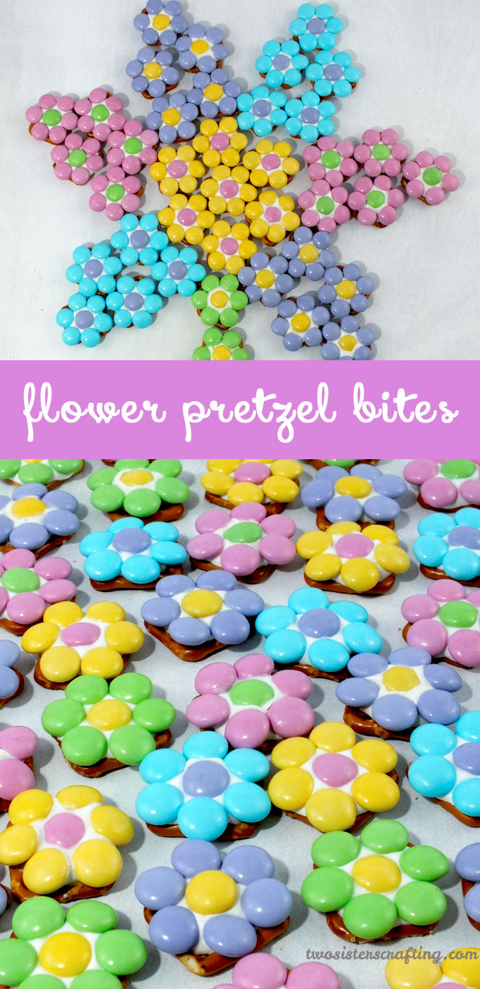 Flower Pretzel Bites from Two Sisters Crafting