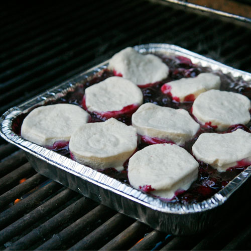 Blueberry Cobbler on the Grill via Tablespoon