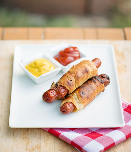 Campfire Crescent Dogs via Tablespoon