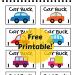 Car Bucks Printable for Kids
