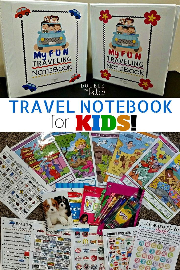 DIY travel binder for kids. Free printables. My kids are gonna love these on our trip!