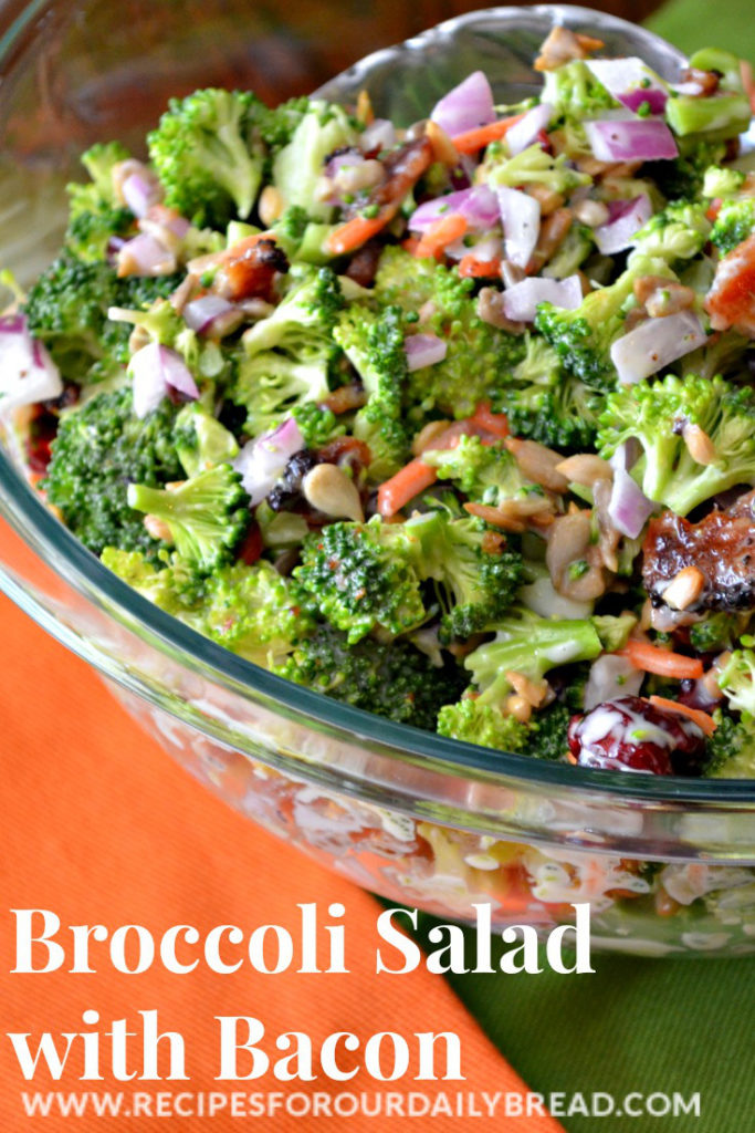 Broccoli Salad with Bacon by Recipes for our Daily Bread
