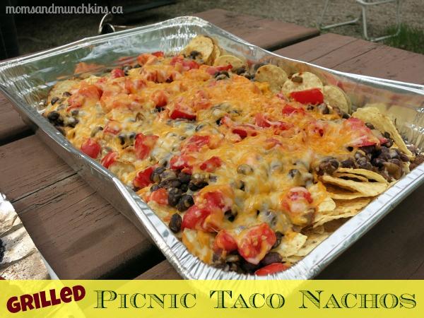 Picnic Taco Nachos via Moms & Munchkins
