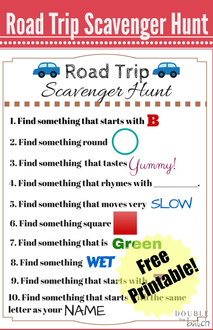 Spring Scavenger Hunt |Scavenger Hunt Printable Games Worksheets
