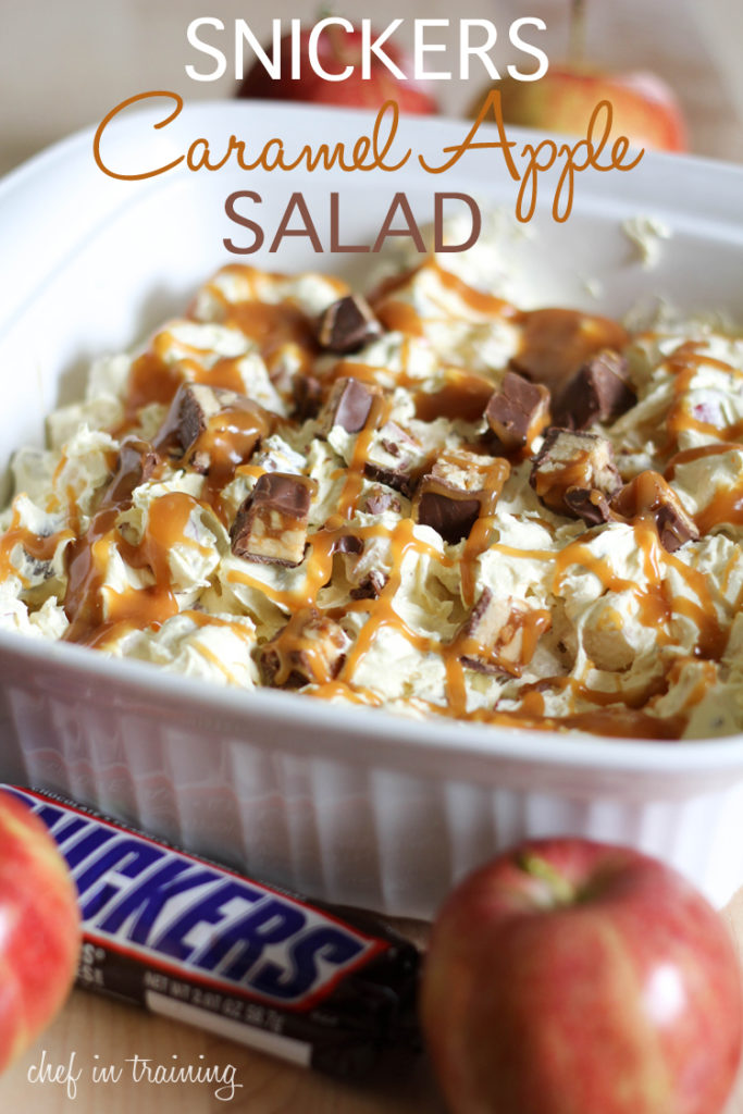 Snickers Caramel Apple Salad by Chef in Training