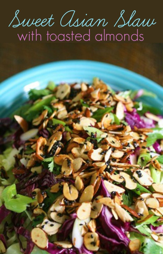 Sweet Asian Slaw by the Glamorous Housewife