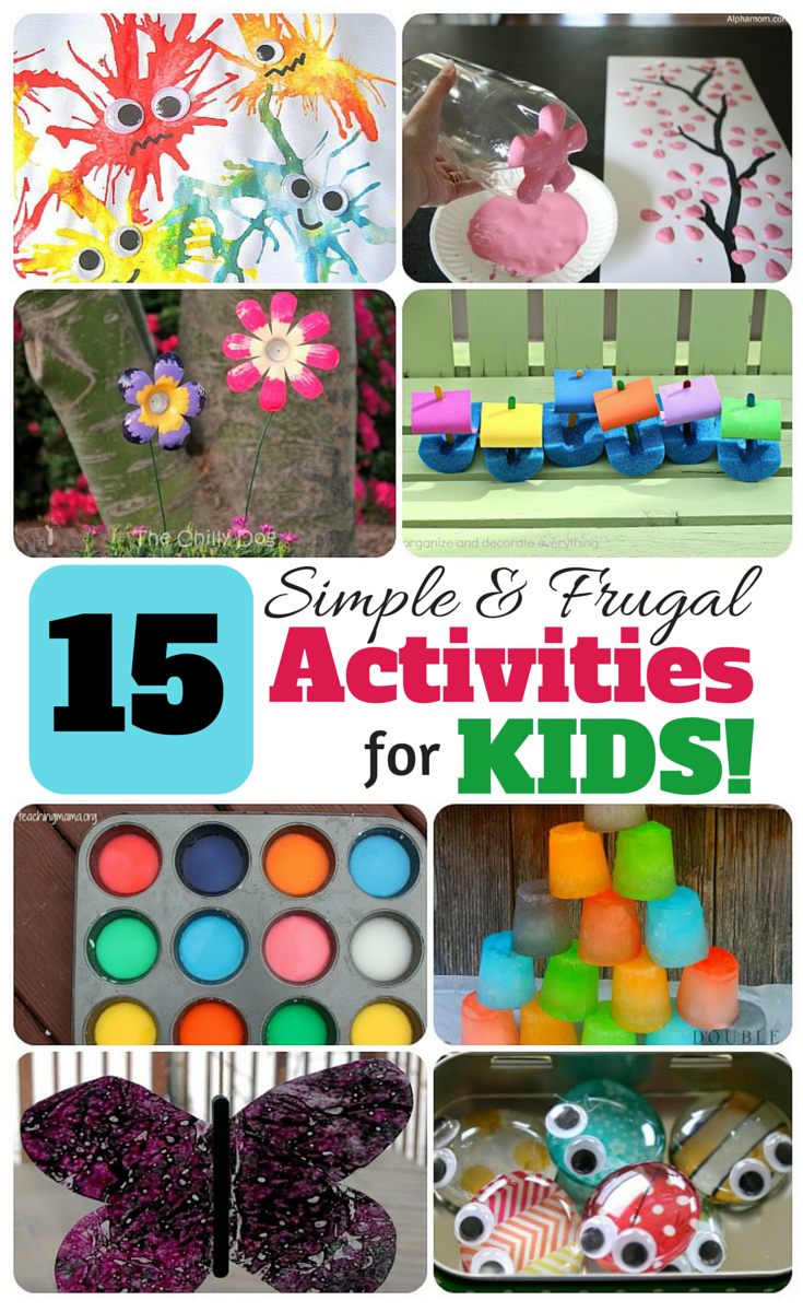 This just might save my sanity right now! Frugal activities for kids!