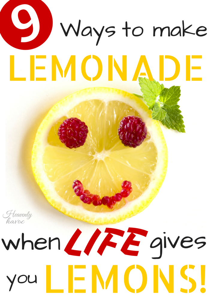 When life gives YOU lemons, what will you do?? I love this post! It reminds me of the greater things in life!