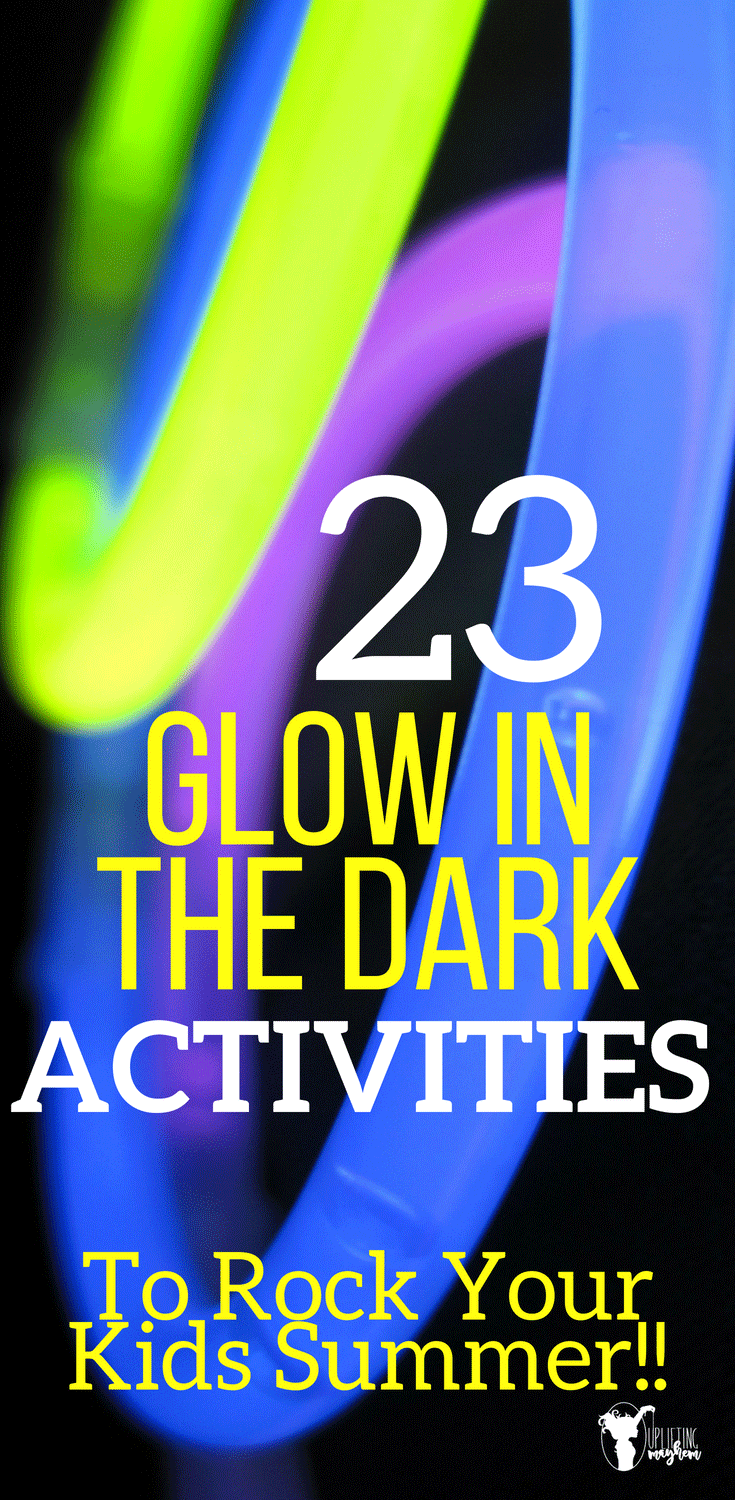 Glow in the dark activities your kids of all ages will LOVE! Perfect activity for summer!