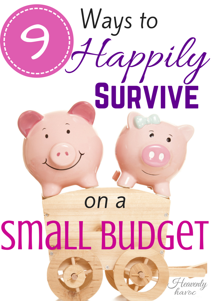Tips to survive on a small budget? DONE!