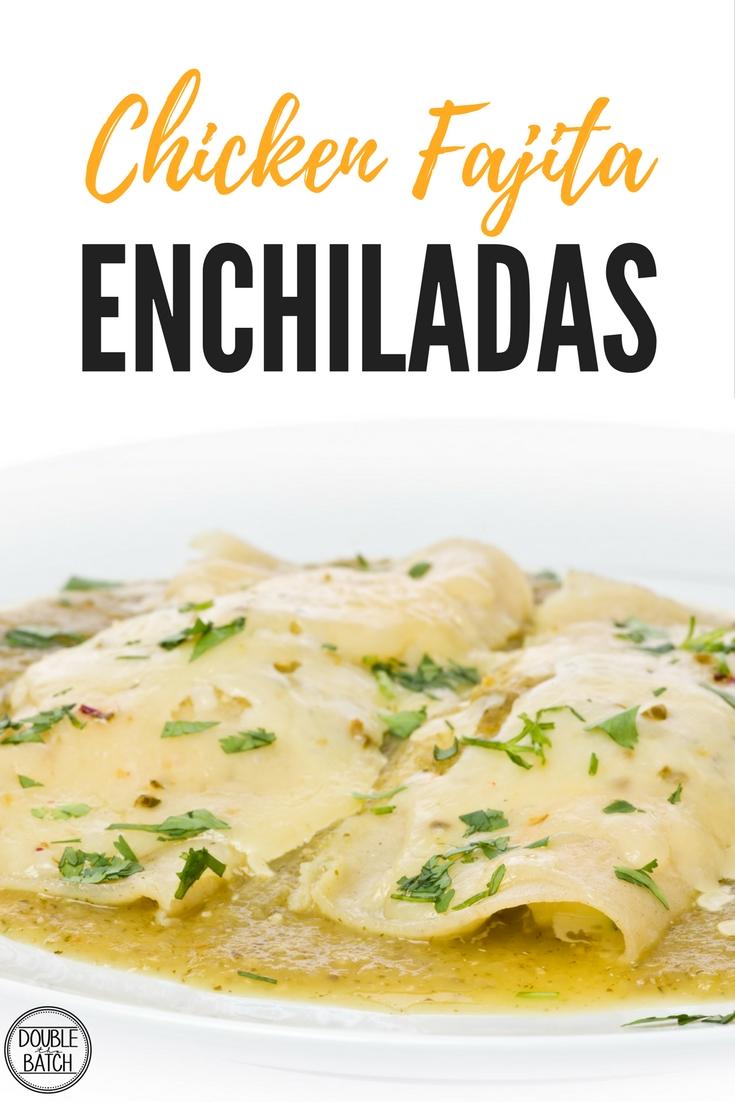 creamy chicken fajita enchiladas