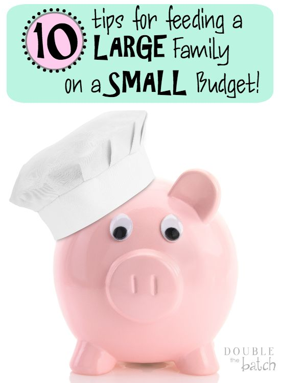 Tips for Feeding a large Family on a Small Budget