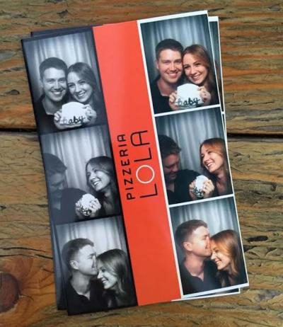 Surprise him in a photobooth and catch his reaction!
