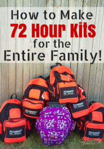 Wanna sleep a little better at night? NOW is the time to get your family prepared! I'm so glad we finally got this done! Making 72 hour kits for the whole family was really not as hard as I thought it would be! #DoubltheBatch