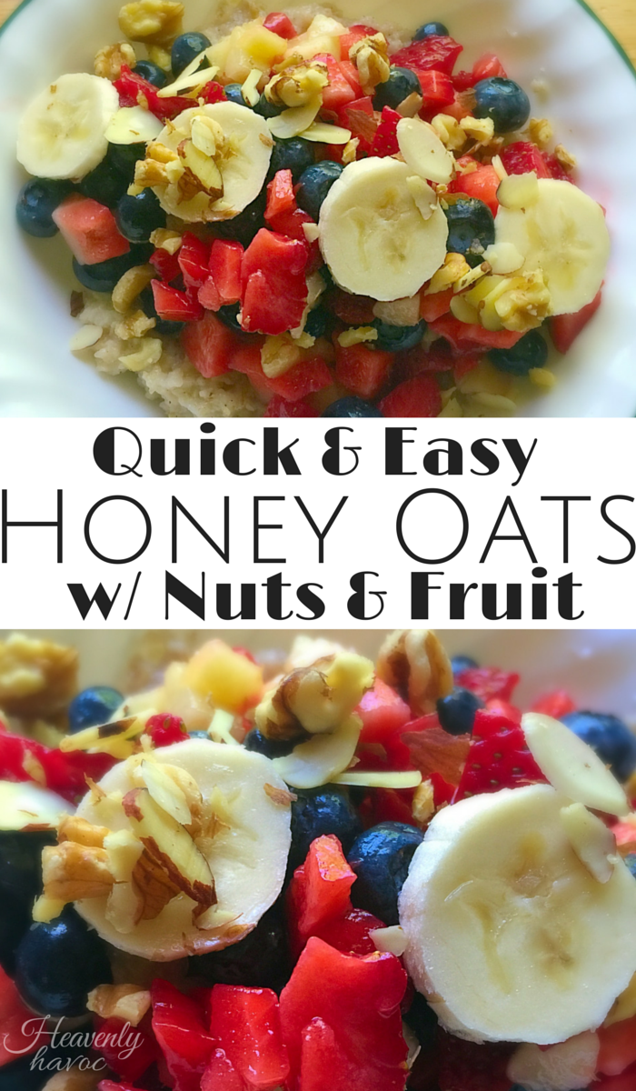 Quick and Easy Honey Oats with Nuts and Fruit