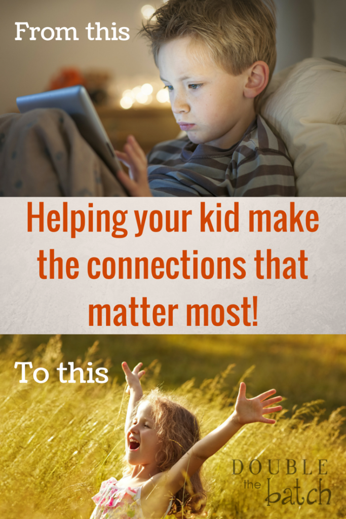 How to raise a kid who cares less about their wifi connection and more about their connection to the people and world around them.