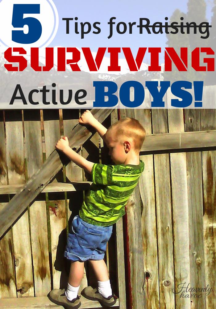 5 TIps for Raising Active Boys