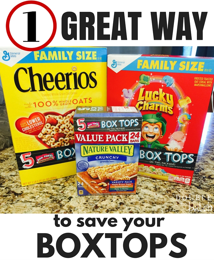 1 Great way to save your box tops from ending up in the trash! #sponsored #ad