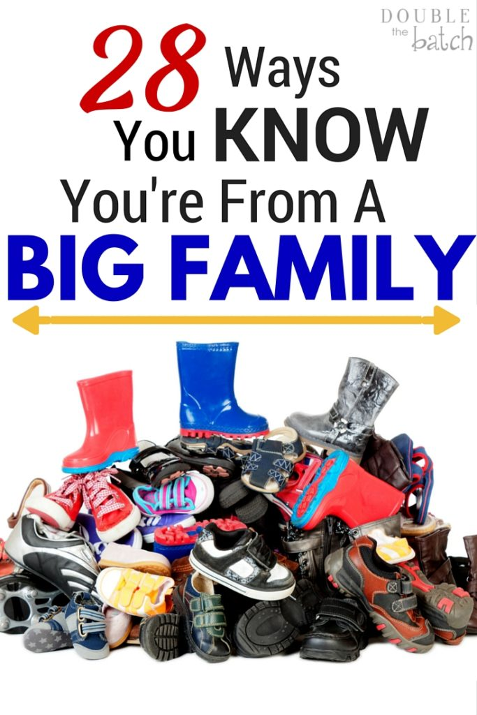 Hilarious! Totally relates to our family. You Know You're From A Big Family When...