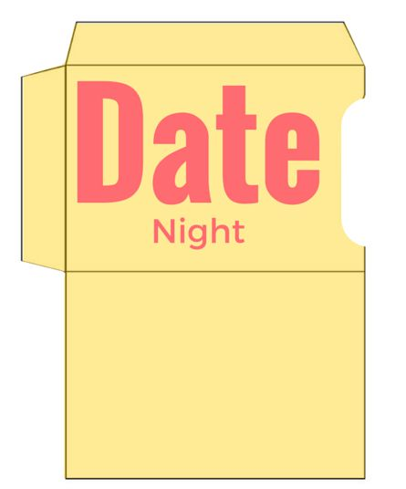 Date Night Gift Card Holder Printable